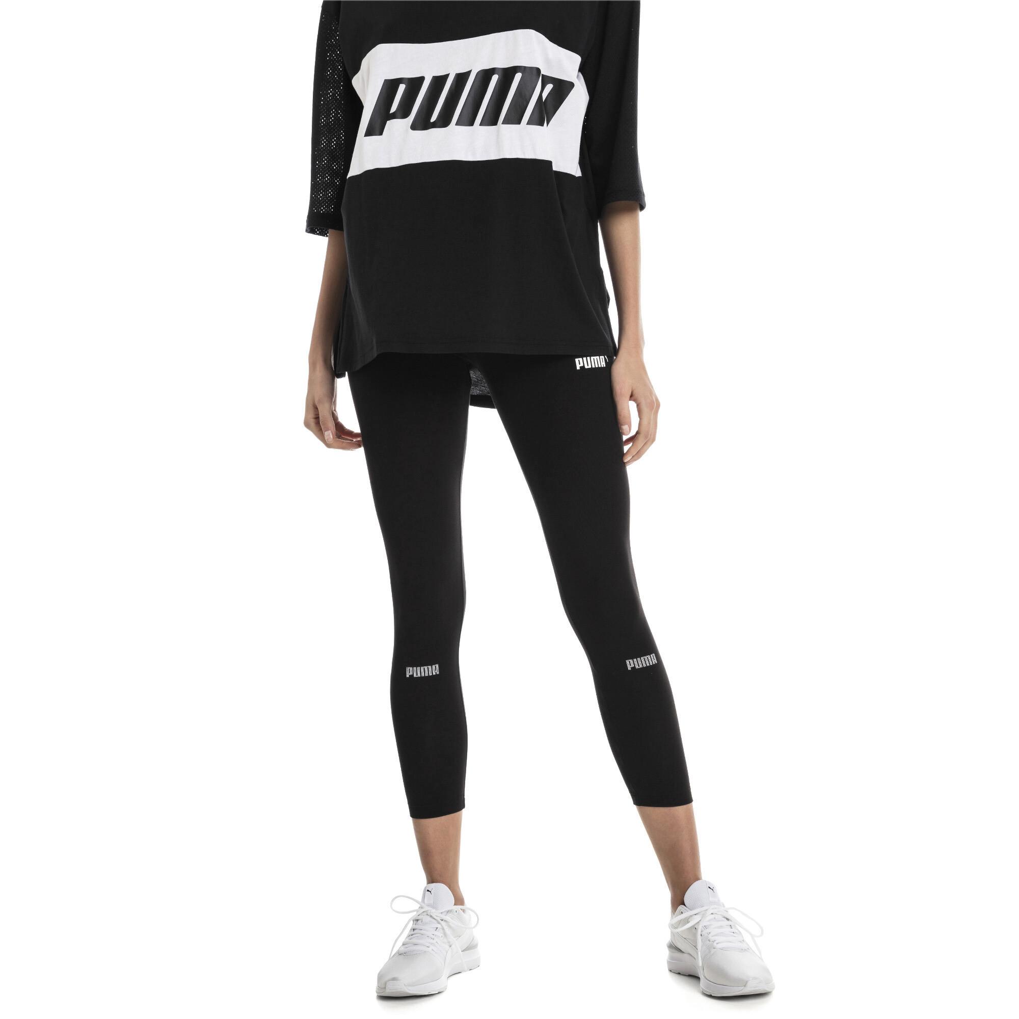 Puma Amplified Womens Ladies Sports Fitness Legging Black Activewear Tops