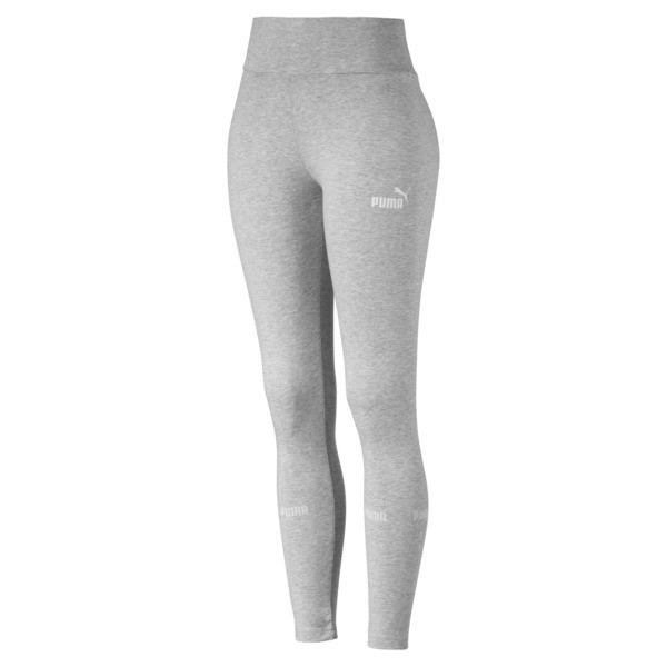 Amplified Women's Leggings, Light Gray Heather, large