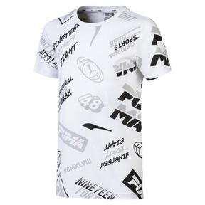 Alpha Allover-Print Jungen T-Shirt