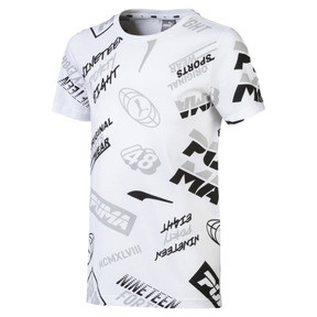 Thumbnail 1 of Alpha All-Over Printed Boys' Tee, Puma White, medium
