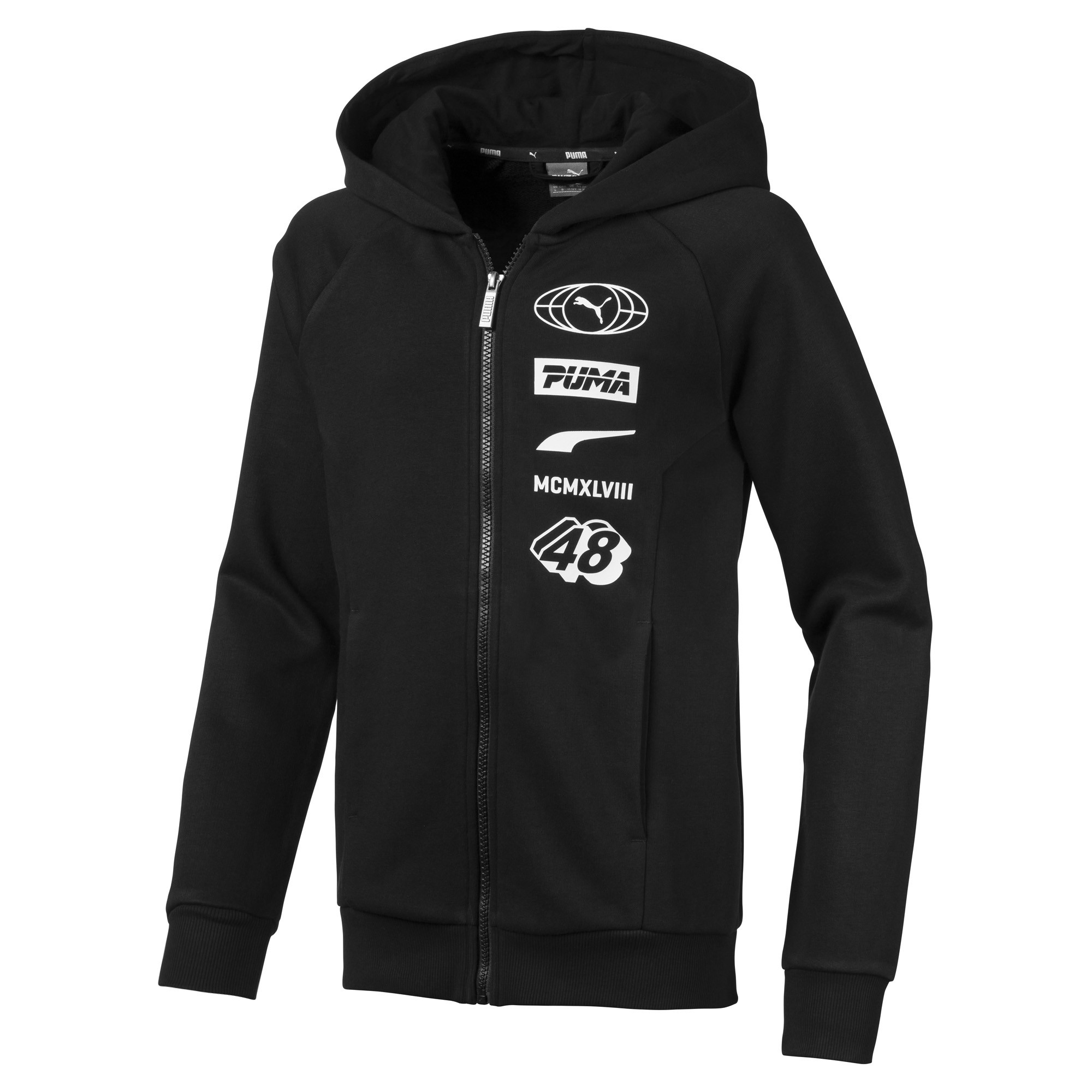 Image Puma ALPHA Hooded Boys' Jacket #1