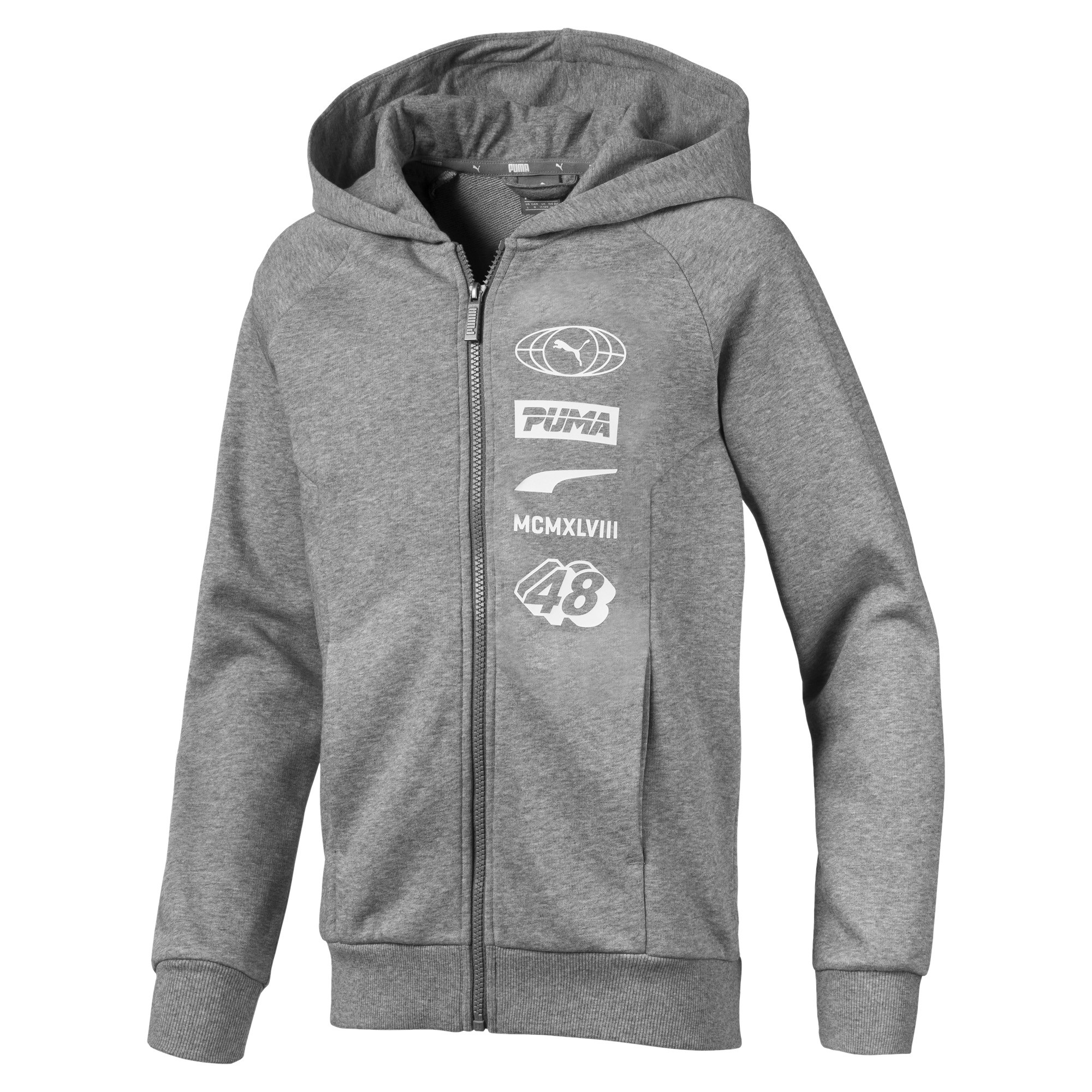 Image Puma ALPHA Hooded Boys' Jacket #1