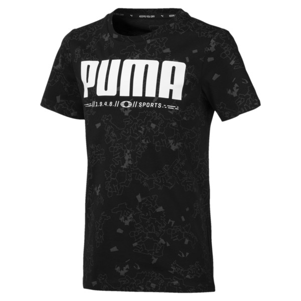 Active Sports Boys' Tee, Puma Black, large