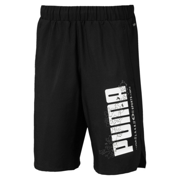 Active Sports Woven Boys' Shorts, Puma Black, large