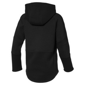 Thumbnail 2 of Evostripe Boys' Hoodie, Cotton Black, medium