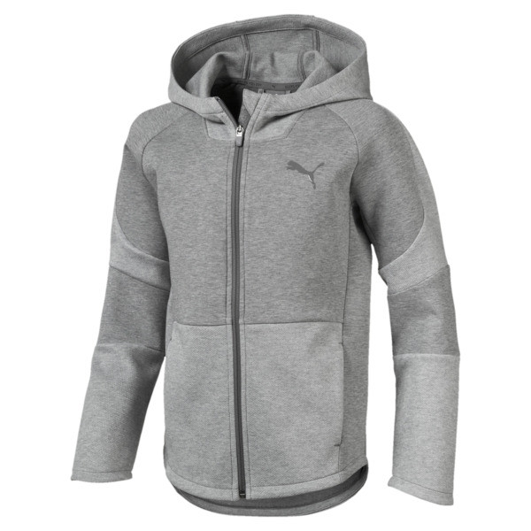 Evostripe Boys' Hoodie, Medium Gray Heather, large