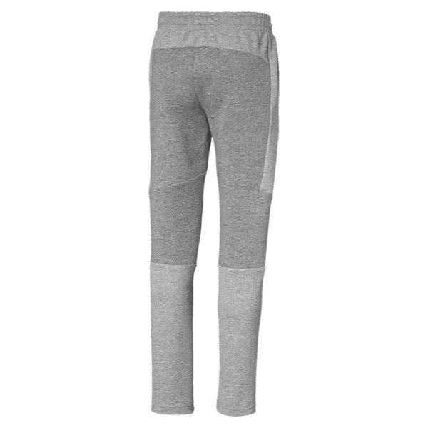 Evostripe Boys' Sweatpants, Medium Gray Heather, large