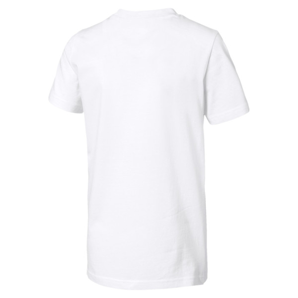 Rebel Bold Boys' Tee, Puma White, large