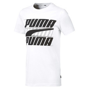 Thumbnail 1 of Rebel Bold Boys' Tee, Puma White, medium