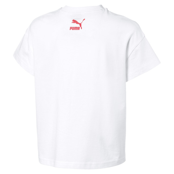 PUMA XTG Girls' Tee JR, Puma White, large