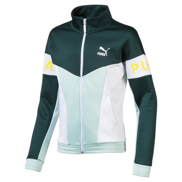 PUMA XTG 94 Girls' Track Jacket JR, Fair Aqua, large