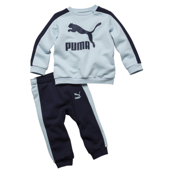 Minicats T7 Crew Jogger Infant + Toddler Set, Light Sky, large