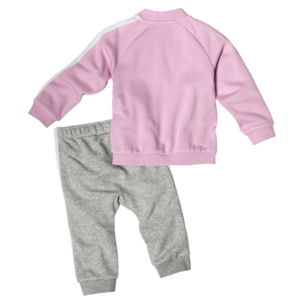 Minicats T7 Full Zip Babies' Jogger Set, Pale Pink, large