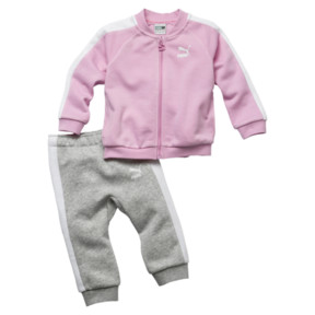 Thumbnail 1 of Minicats T7 Full Zip Babies' Jogger Set, Pale Pink, medium