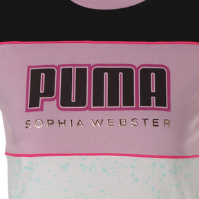 Thumbnail 4 of キッズ ガールズ PUMA x SOPHIA WEBSTER Tシャツ, Puma White, medium-JPN