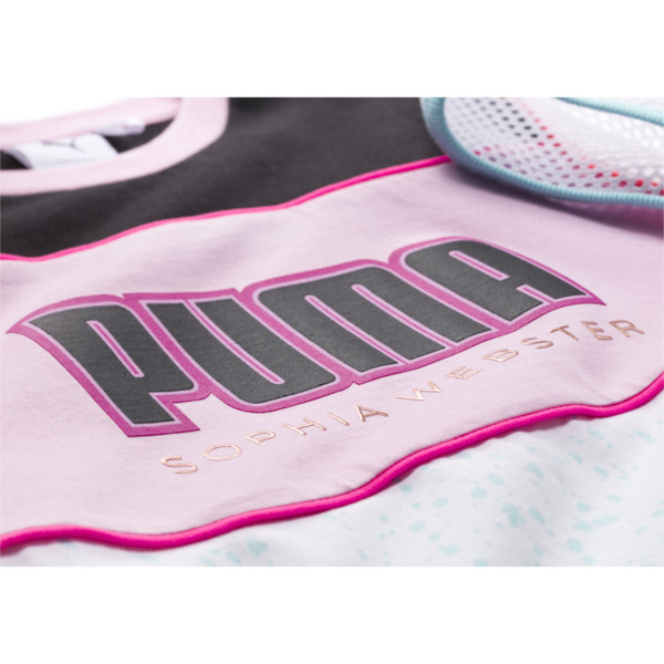 PUMA x SOPHIA WEBSTER Girls' Tee, Puma White, large