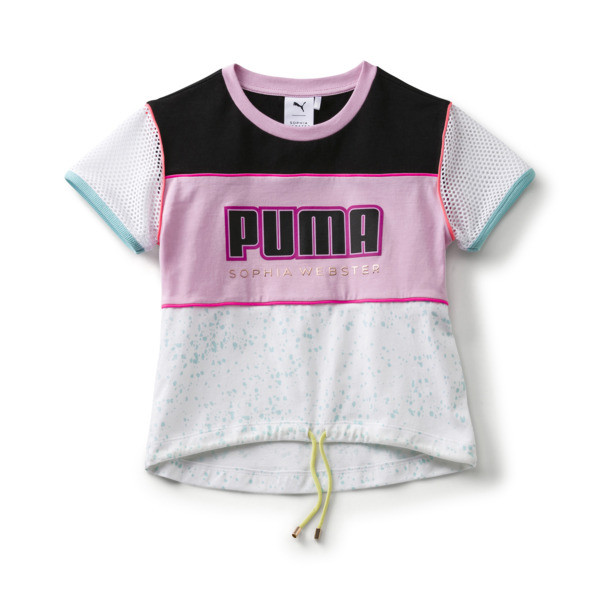 PUMA x SOPHIA WEBSTER Mädchen T-Shirt, Puma White, large