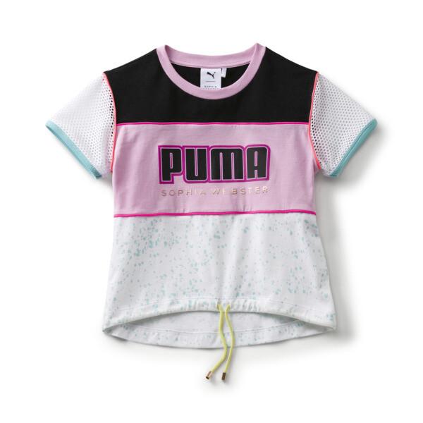 25a32e3fdaa7 キッズ ガールズ PUMA x SOPHIA WEBSTER Tシャツ, Puma White, large-JPN