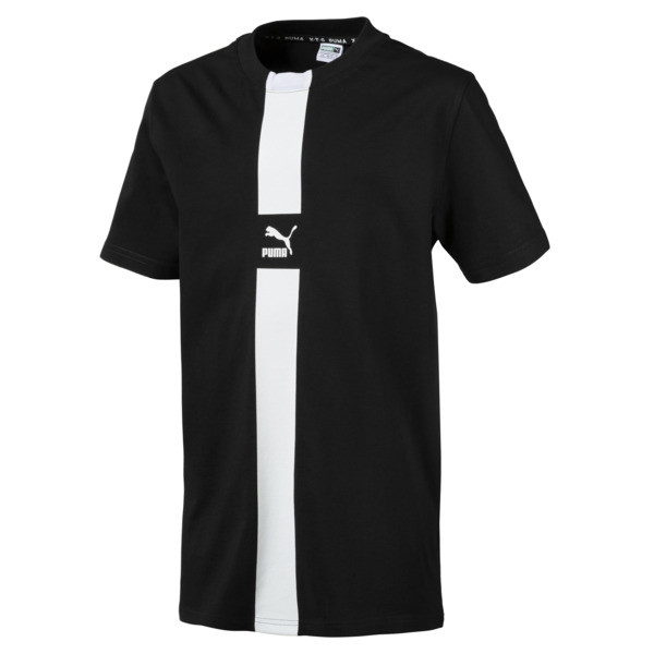PUMA XTG Boys' Tee JR, Cotton Black, large