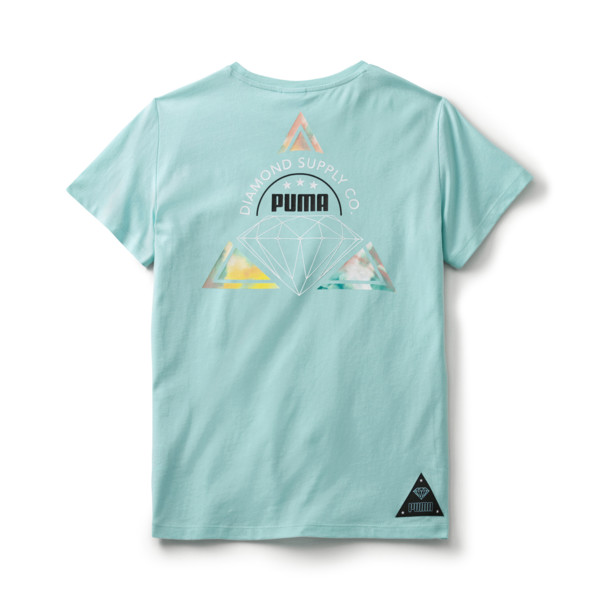 PUMA x DIAMOND SUPPLY CO. Boy's Tee, ARUBA BLUE, large