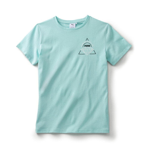 PUMA x DIAMOND SUPPLY CO. Boy's Tee, ARUBA BLUE, large