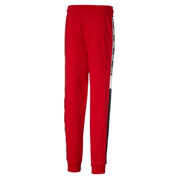 PUMA XTG Boys' Sweatpants JR, High Risk Red, large