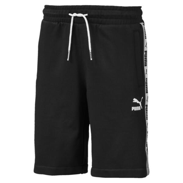 PUMA XTG Boys' Shorts JR, Cotton Black-- Puma white, large