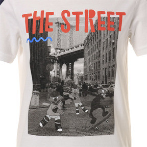 Thumbnail 6 of キッズ PUMA x SESAME STREET SS Tシャツ B (半袖), Puma White, medium-JPN