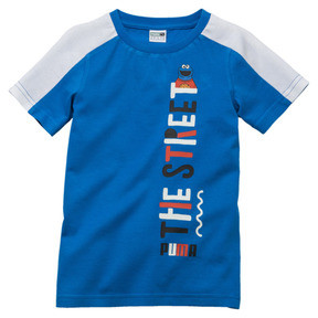 Thumbnail 1 of PUMA x SESAME STREET Boys' Tee, Indigo Bunting, medium