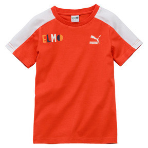 Thumbnail 1 of PUMA x SESAME STREET Boys' Tee, Cherry Tomato-tigerlily, medium