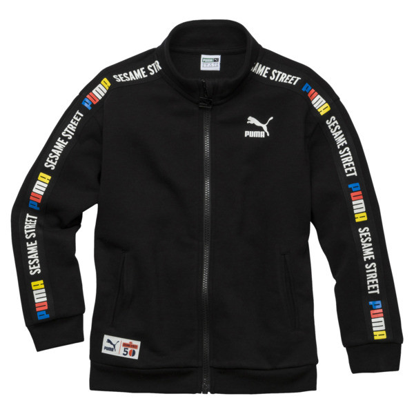 PUMA x SESAME STREET Boys' Jacket, Cotton Black, large