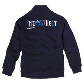 Thumbnail 2 of PUMA x SESAME STREET Boys' Jacket, Peacoat, medium