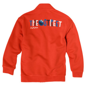 Thumbnail 2 of PUMA x SESAME STREET Boys' Jacket, Cherry Tomato, medium