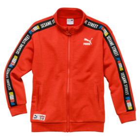 Thumbnail 1 of PUMA x SESAME STREET Boys' Jacket, Cherry Tomato, medium