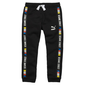 Thumbnail 1 of PUMA x SESAME STREET Boy's Sweatpants, Cotton Black, medium