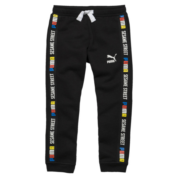PUMA x SESAME STREET Boy's Sweatpants, Cotton Black, large
