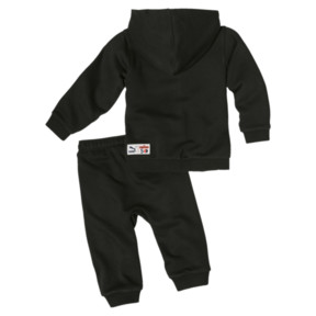 Thumbnail 2 of Sesame Street Hooded Baby Boys' Track Suit, Cotton Black, medium
