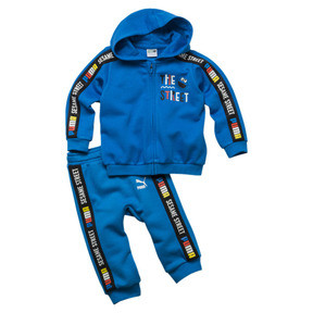 Thumbnail 1 of Sesame Street Hooded Baby Boys' Track Suit, Indigo Bunting, medium