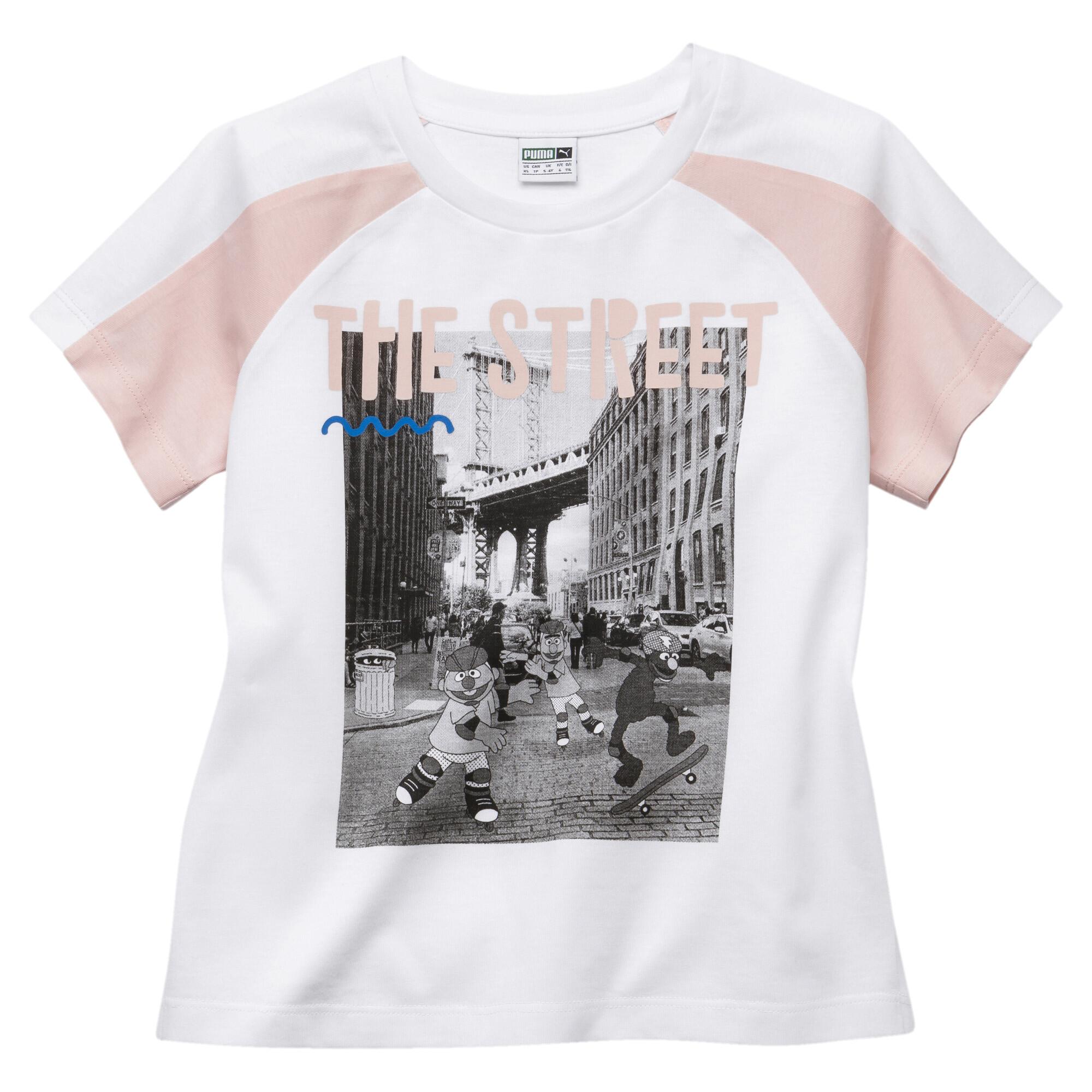 Image Puma PUMA x SESAME STREET Short Sleeve Girls' Tee #1