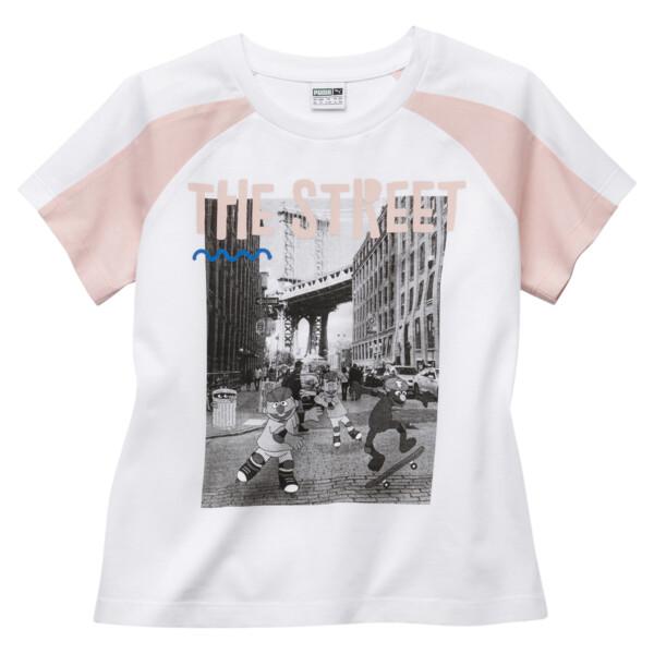 35f29764 PUMA x SESAME STREET Girl's Tee | Puma White | PUMA Girls Preschool ...