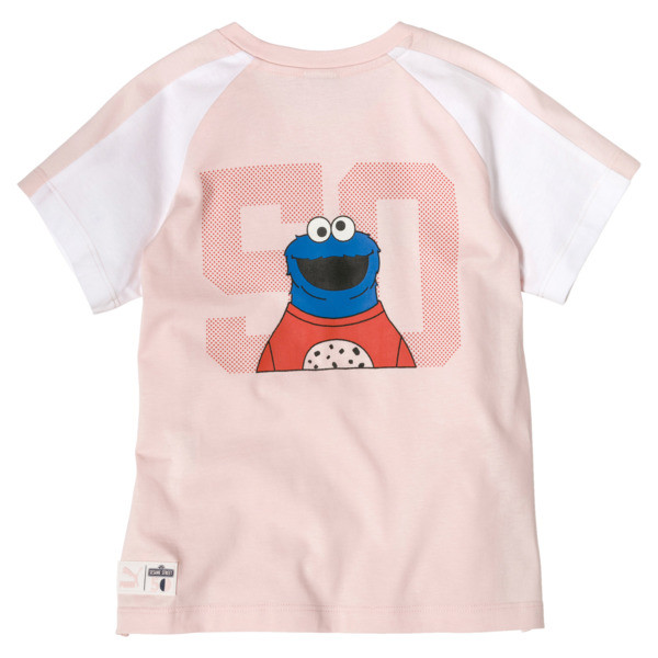 Sesame Street Short Sleeve Girls' Tee, Veiled Rose, large
