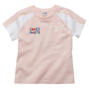 Thumbnail 1 of PUMA x SESAME STREET Girl's Tee, Veiled Rose, medium