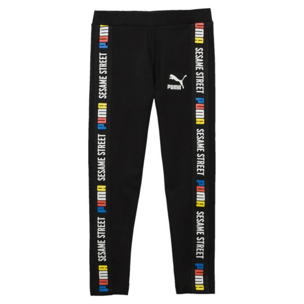 Sesame Street Girl's Leggings, Cotton Black, large