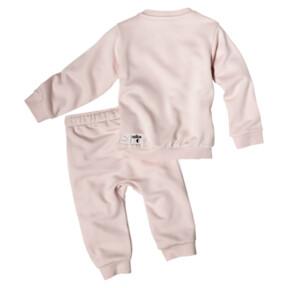 Thumbnail 2 of PUMA x SESAME STREET Infant + Toddler Crewneck Jogger Set, Veiled Rose, medium