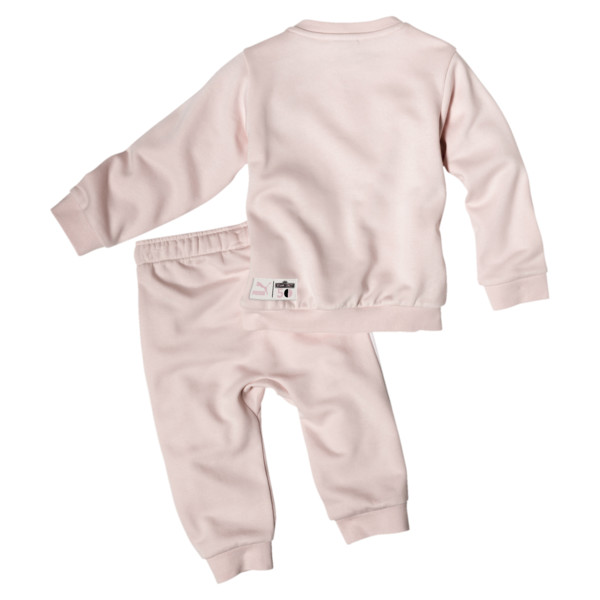 PUMA x SESAME STREET Infant + Toddler Crewneck Jogger Set, Veiled Rose, large