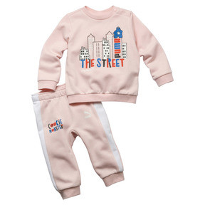 PUMA x SESAME STREET Infant + Toddler Crewneck Jogger Set
