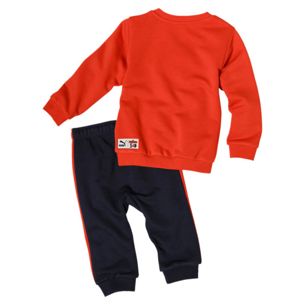PUMA x SESAME STREET Infant + Toddler Crewneck Jogger Set, Cherry Tomato, large