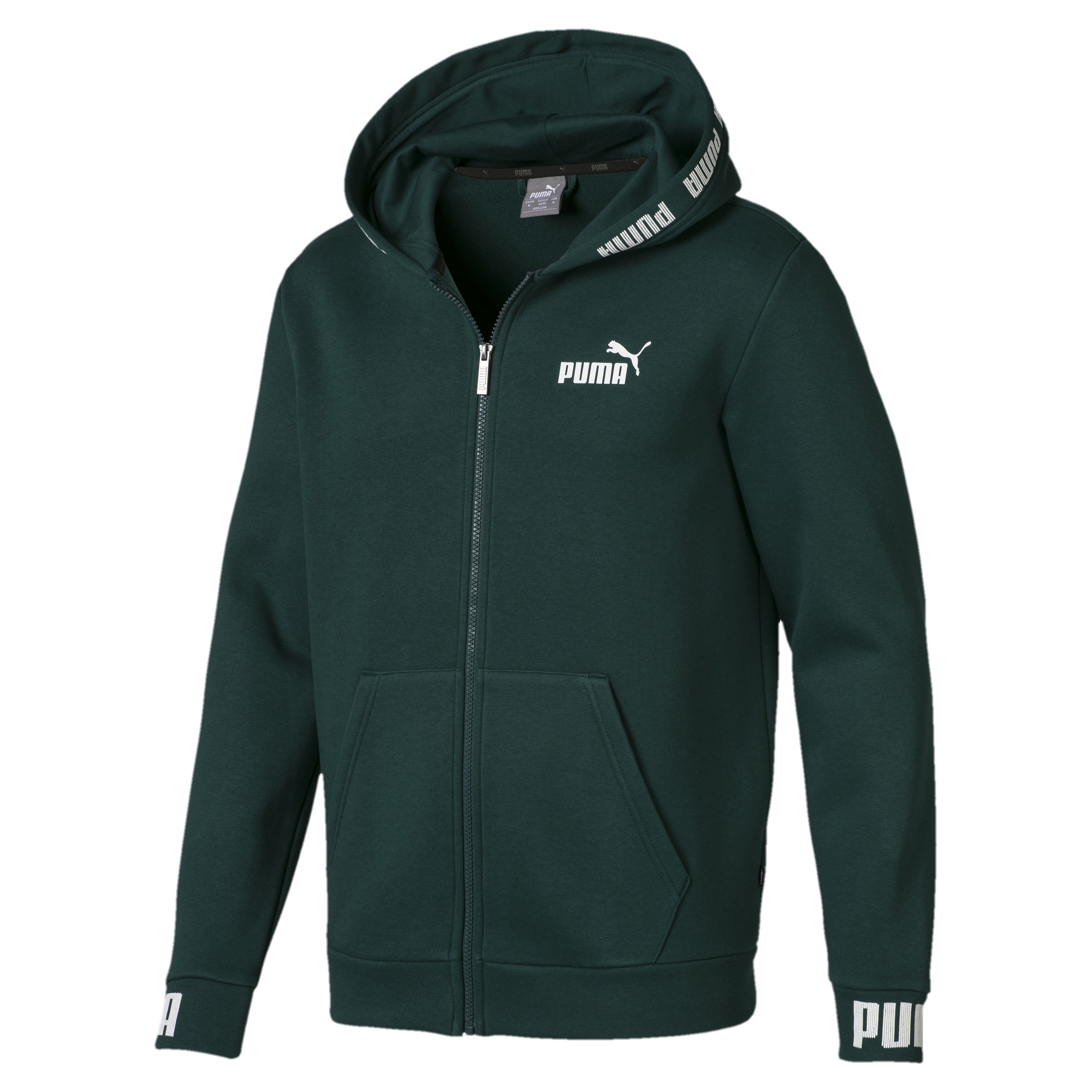 Image Puma Amplified Men's Hooded Fleece Jacket #1