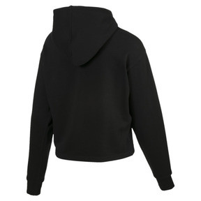 Thumbnail 5 of Essentials+ Damen Cropped Hoodie, Cotton Black, medium