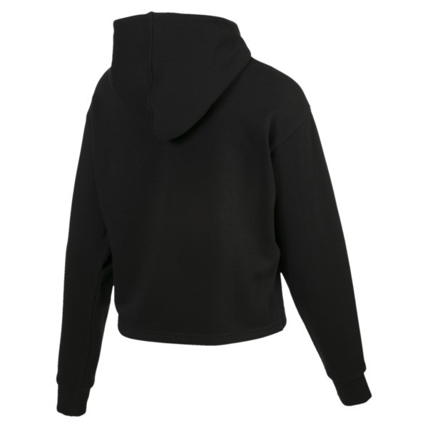 Essentials+ Damen Cropped Hoodie, Cotton Black, large